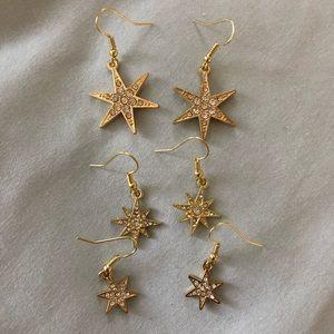Star Dangle Earring Set